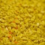 gros plan biles plastiques jaunes